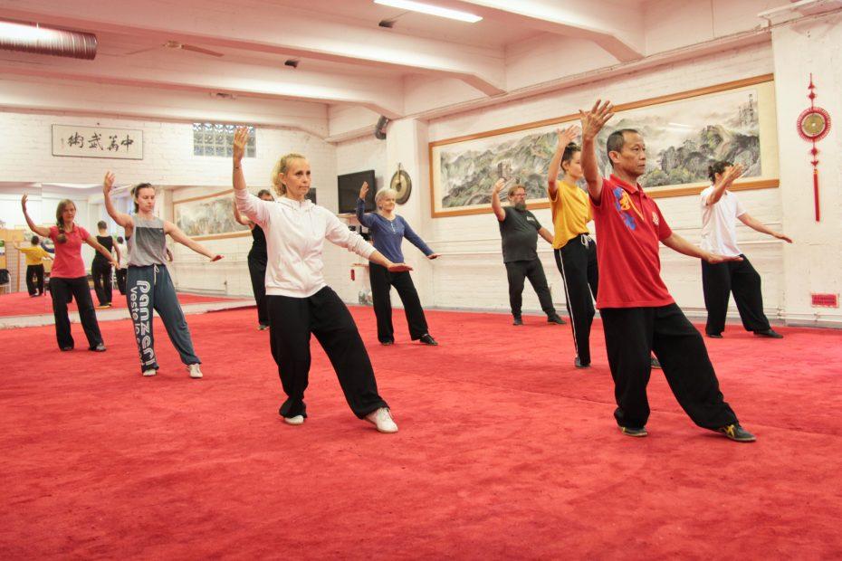 Taiji-tunneilla harjoitellaan mestari Zhang Fangin ohjauksessa